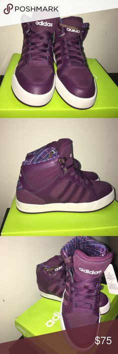 New Adidas Neo Women's Raleigh Mid W Sneakers New in box Women's fashion sneakers. Color: Merlot. Has an extra pair of golden shoelaces adidas Shoes Sneakers