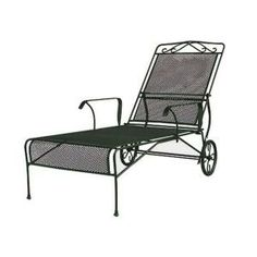 Etonnant Wrought Iron Green Patio Chaise Lounge W3929 C GR At The Home Depot