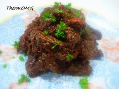 Lamb with ginger and chilli
