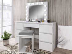 Makeup Dressing Table, Vanity, Led, Furniture, Home Decor, Vanity Area, Homemade Home Decor, Lowboy, Dressing Tables