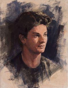 """Portrait of Michael Oil on canvas, 14""""x18"""" Private Collection #portraitpainting #portraitureinoils #patricksaunders #realistpainting"""