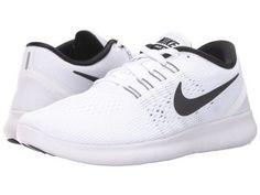 Nike - Free RN (White/Black) Women's Running Shoes