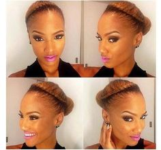 LOVE the color and the simplicity. Goddess twist & bun