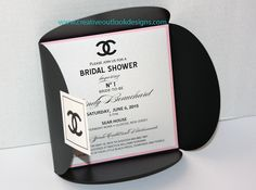 https://flic.kr/p/xcwN6N   CC_Chanel Inspired Invitation   Pink and Black Bridal Shower Invitation for the Glamorous and Sophisticated lady!   www.creativeoutlookdesigns.com