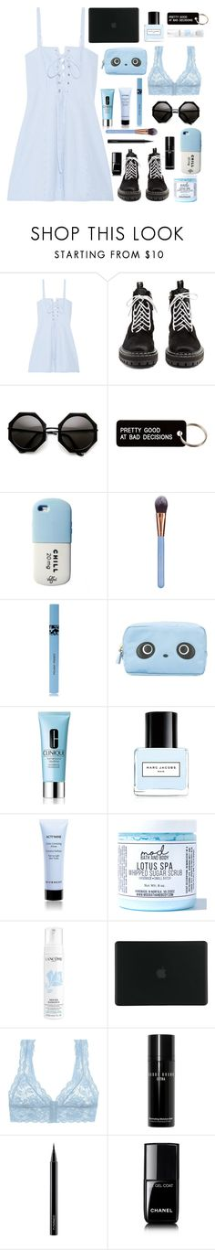 """""""Untitled #25"""" by milk-lips ❤ liked on Polyvore featuring Solid & Striped, Proenza Schouler, Various Projects, Luxie, COOLA Suncare, Anya Hindmarch, Clinique, Marc Jacobs, Givenchy and Mod Bath and Body"""