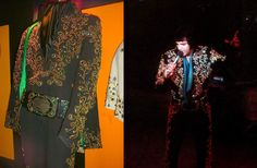 The black spanish suit  with green stoned was made in 1973 and was used by Elvis in Las Vegas in august/september 1973. He never used that suit on tour. The suit is now at Graceland today.