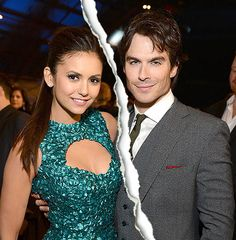 Nina Dobrev and Ian Somerhalder have split after three years of dating. WHAT!!!!!!!!!!!!!!!!!!!!