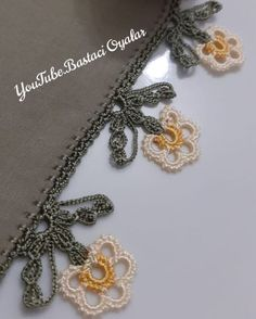 Crochet Lace Edging, Crochet Necklace, Lily, Sultan, Jewelry, Youtube, Instagram, Crocheting, Blue Prints