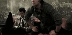 OH MY GOD THIS IS ACTUALLY PERFECT! LOOK AT CAS' FACE! THIS IS TOTALLY WHAT HAPPENED! WE JUST COULDN'T SEE THE WINGS!