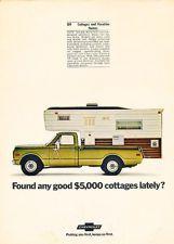 1970 Chevrolet Camper Pickup Truck - Classic Car Advertisement Print Ad J76