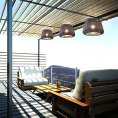 RALPH - Outdoor pendant lights from Panzeri Outdoor Furniture Sets, Tropical Furniture, Outdoor Lamp, Contemporary Garden, Pergola Lighting, Outdoor Living Areas, Rooftop Lighting, Outdoor Lighting, Wicker Pendant Light