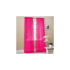 Hot Pink Curtains! (girls room)