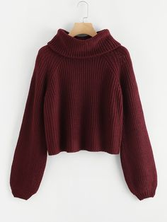 To find out about the Rolled Neck Bishop Raglan Sleeve Jumper at SHEIN, part of our latest Sweaters ready to shop online today! Casual Sweaters, Sweaters For Women, Women's Sweaters, Sweater Outfits, Cute Outfits, High Neck Jumper, Fashion Clothes, Fashion Outfits, Fashion Styles