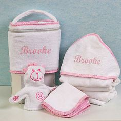 """""""Travel in Style"""" Pink Four-Piece Bath Gift Set - Personalized"""