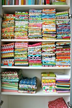 [not] my fabric stash, someone elses.  i've hoarded in all my previous hobbies, and as hard as i try i see this coming in my future...