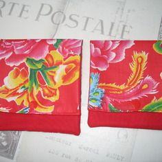 Pochette de sac 13 x 13 en tissu traditionnel chinois vendue à l'unité