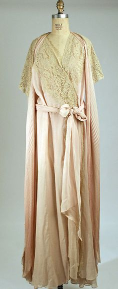Negligée 1939 Culture: French (probably) Medium: silk Dimensions: Length at CB: 66 in. (167.6 cm) Credit Line: Gift of Mrs. Clarkson Runyon