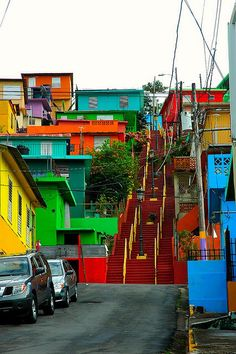 The Famous Red stairs, Gurabo, Puerto Rico