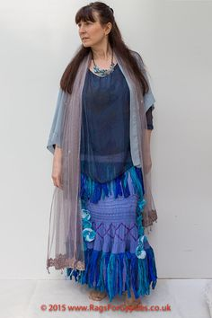Demelza Sea Gypsy Vibrant Blue Green Purples by RagsForGypsies