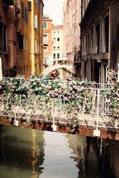 Attached a Lock to a Love Bridge. Love Bridge In Venice