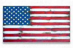 American Vintage Wood Flag