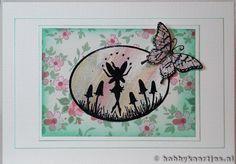 Gebruikte stempels: Fairy Scene en Papillon Potpourri