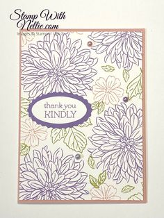 Flower Cards, Flower Stamp, Scrapbook Cards, Scrapbooking, Craft Club, Stamping Up Cards, Fall Cards, Card Sketches, Thank You Cards