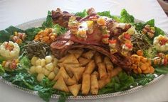 Roasted lamb in Morocco Fish Marinade, Morrocan Food, Meat Chickens, Cobb Salad, Catering, Buffet, Good Food, Food And Drink, Cooking