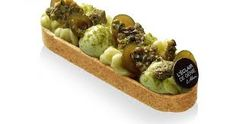 Pistachio & Olives eclair/tartlet by Christophe Adam Beaux Desserts, Fun Desserts, Dessert Recipes, Christophe Adam, Patisserie Design, Grolet, Just Eat It, Beautiful Desserts, Sweet Pastries