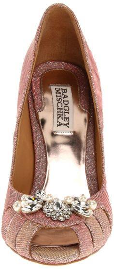 Badgley Mischka Women's Monique Pump Pearl Shoes, Tory Burch Flats, Pumps, Heels, Luxury Shoes, Badgley Mischka, Peep Toe, Vogue, Glamour