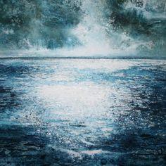 Stewart Edmondson Breathe in the Vast Horizon Acrylic on Paper 47 x 48cm.