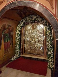 Byzantine Icons, Orthodox Christianity, Orthodox Icons, Holy Spirit, Beauty And The Beast, Miraculous, Greece, Mosaic, Saints