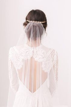 Barely there wedding veil - 'Skylar'