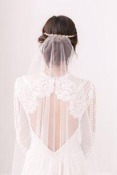 Barely there wedding veil - 'Skylar'