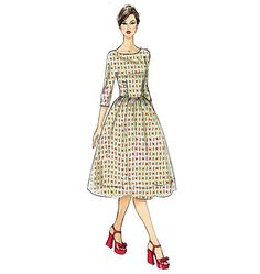 Dress sewing pattern by Gertie for Butterick. B6284, Misses' Dress