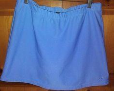 Ladies Nike Dri-fit Exercise/Tennis Skirt/Skort Blue Medium