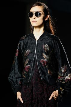 Dries Van Noten Spring 2014 Ready-to-Wear Collection Slideshow on Style.com  love the two way zip, among many other things!