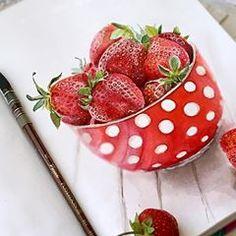 #aquarela #рисуюкаждыйдень #клубника #waterblog #акварелька #яхудожникятаквижу #учусьрисовать #летомаленькаяжизнь #art_we_inspire #рисунокакварелью #drawingart #strawberry berry#botanicalillustration