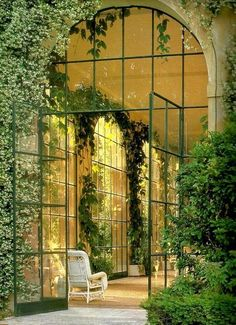 Haute Design by Sarah Klassen: Welcome, March / #garden #home. Maybe indoor tennis court or swimming pool?
