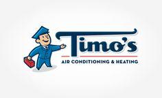 Retro Logo design for HVAC contractor Timo's Air in Palm Springs, CA. Logo Design Samples, Branding Portfolio, Plumbing Problems, Mascot Design, Great Logos, Retro Logos, Heating And Air Conditioning, Cool Logo, Business Logo