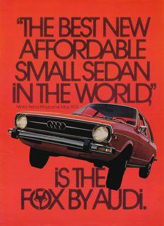 1975 Audi Fox advertisements