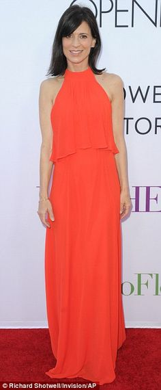 Different looks: Actress Perrey Reeves was fabulous in floor-length red, while actress Gia...