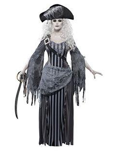Damen Geister-Pirat Kostüm ca 37€  Kostüm-Idee für Karneval, Halloween & Fasching