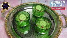 Gurkensalat mit Dillöl - Rezept von Doris Genusswelt Pickles, Cucumber, Food, Tasty Salad Recipes, Cucumber Recipes, Essen, Meals, Pickle, Yemek