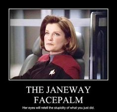 Star Trek Voyager, yup the look says it all