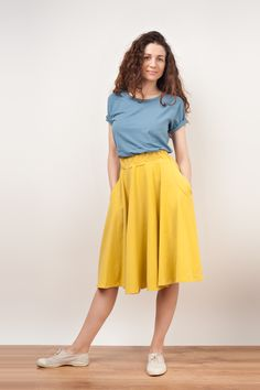 yellow summer skirt inspiration
