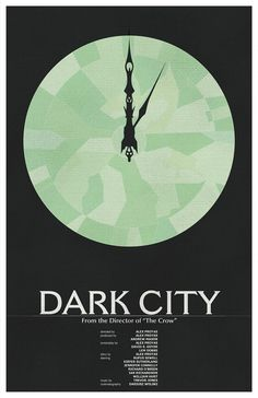 Dark City Vintage Movie Poster // City Clock with by TheGeekerie