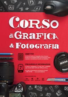 Graphic design & Photography course Poster - by Antonio Cappucci