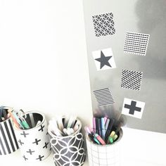 Zelf magneten maken.. bij www.bijdeb.blogspot.com
