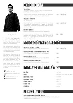 It is hard to find a balance between something that is visually pleasing and something that is easily printable. This black and white resume strikes that balance.